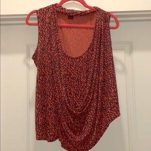 French Connection asymmetrical drape blouse